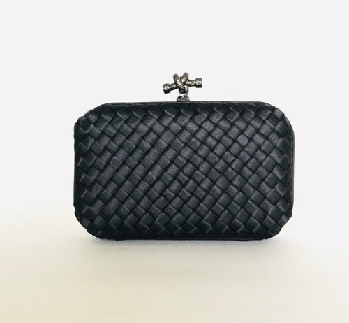 Clutch Satin Weave Handbag