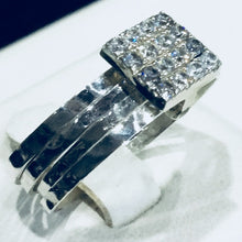 Clear Crystal Square Floater Ring