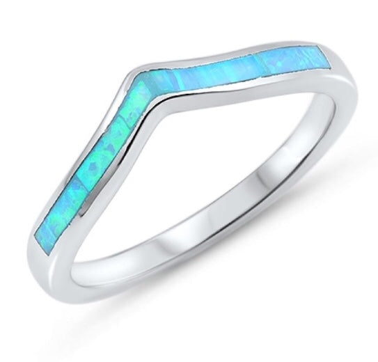 Opal Chevron Ring