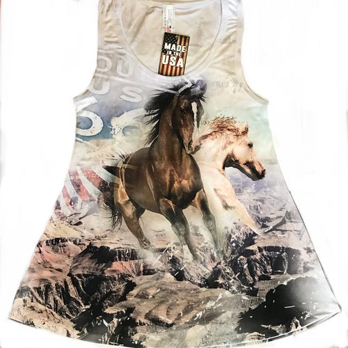 Route 66 Horse Tank Top