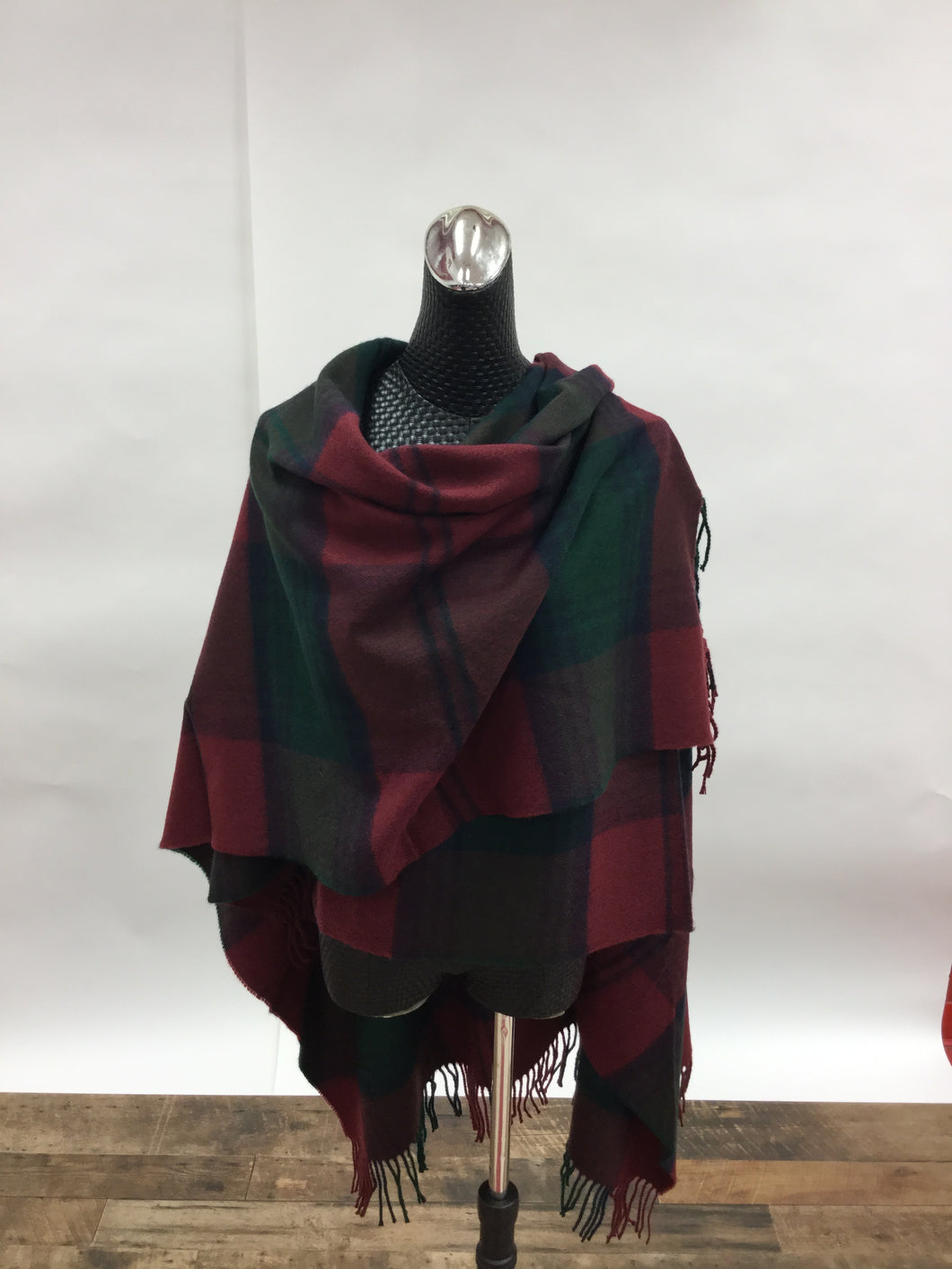 Red and Green plaid wrap
