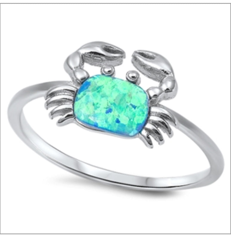 Sand crab opal Ring