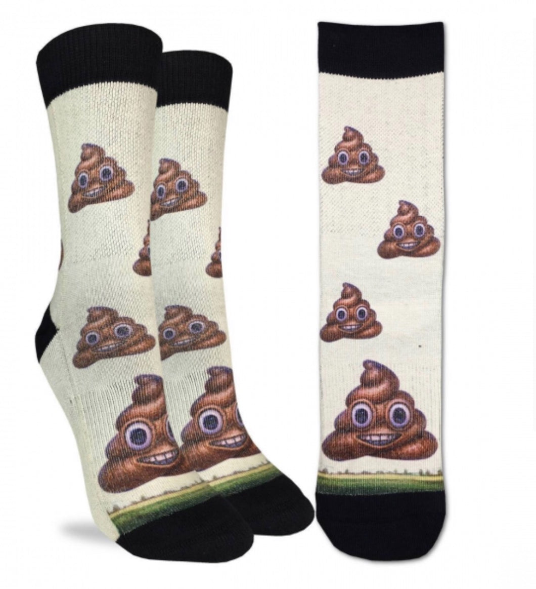 Men's Piles Of Poop Emoji Active Fit Fun Sock