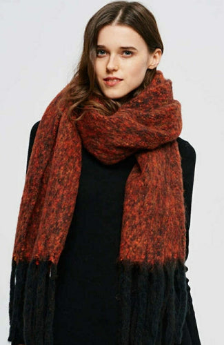 Oversize Plush Orange Scarf