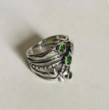 Sterling silver Dragonfly Flower Ring