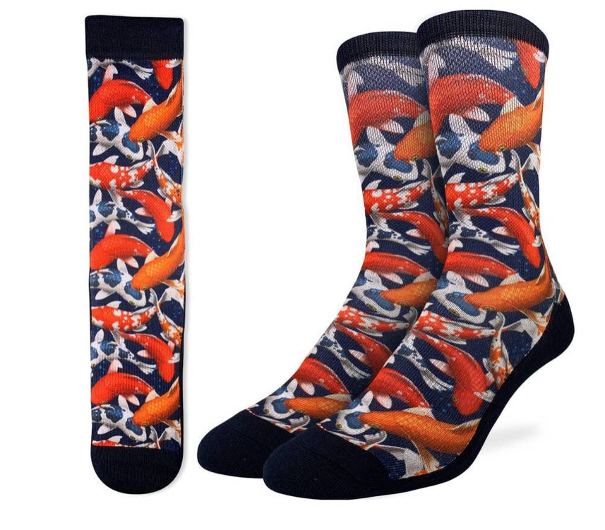 Men's Koi Fish Active Fit Sock