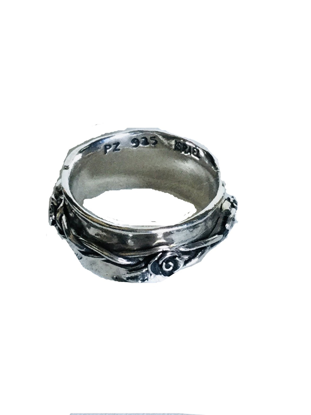 Rose bud Sterling Silver Spinner ring