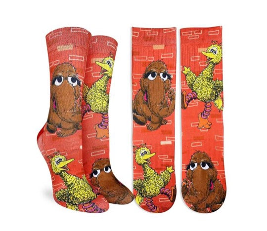 Women's Big Bird & Snuffleupagus Active Fit Sock