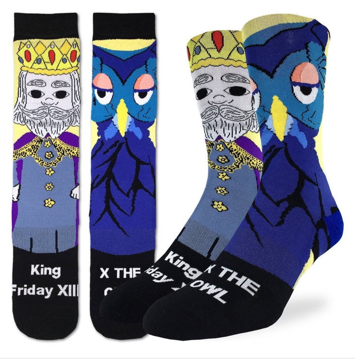 Men's Mister Rogers King Friday Active fit Fun Sock