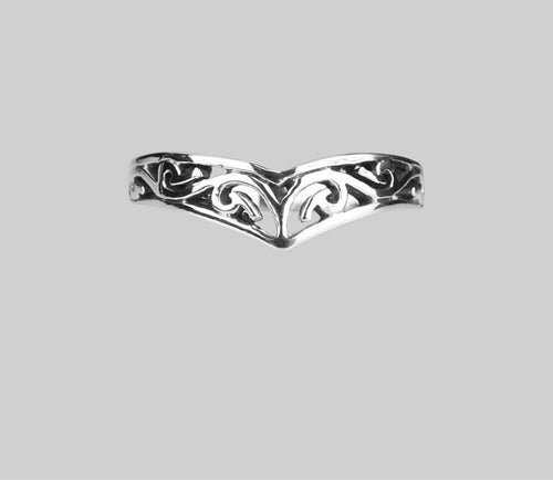 Silver Chevron Tribal Ring