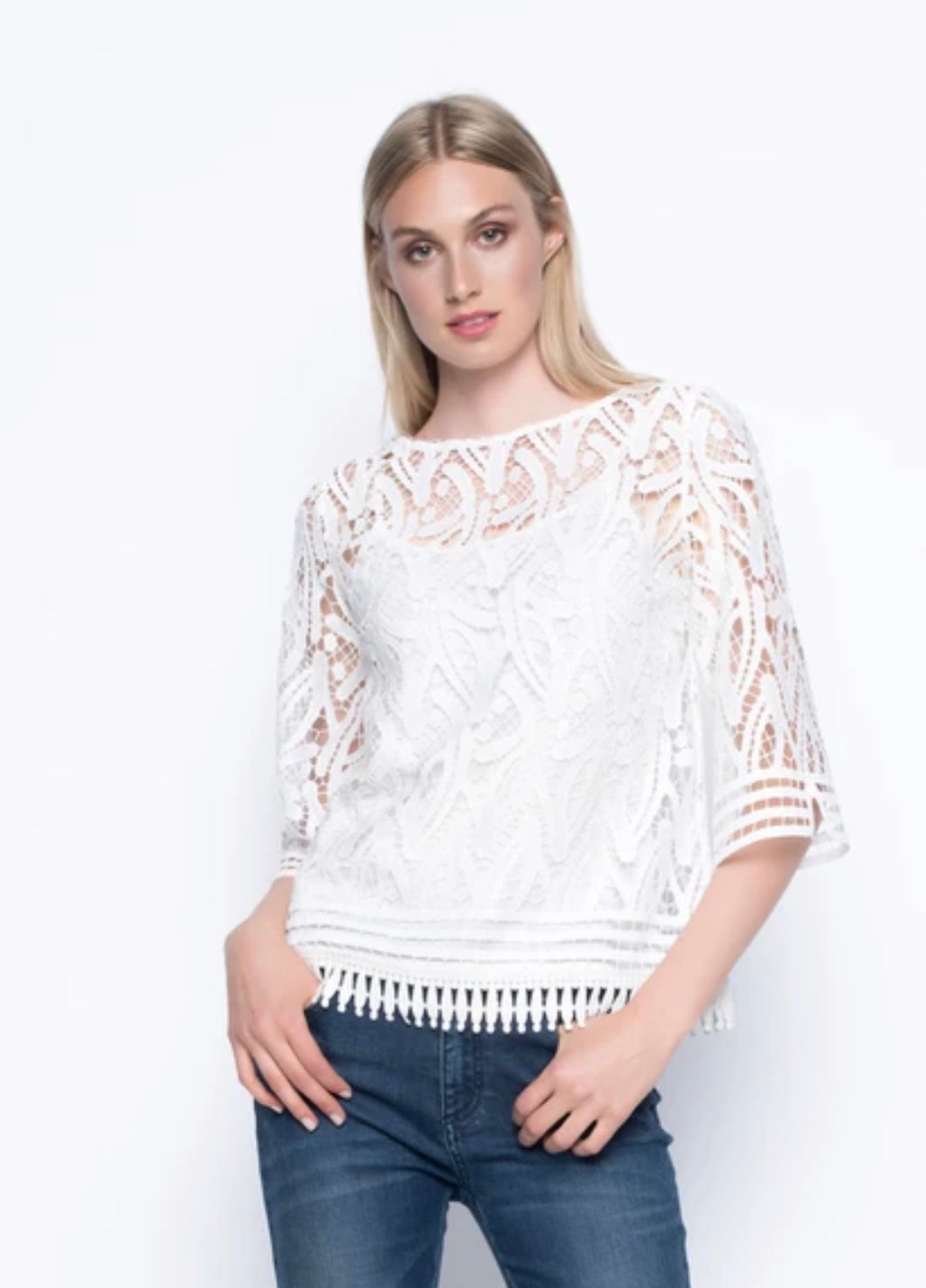 Lace White Bell Sleeve Top