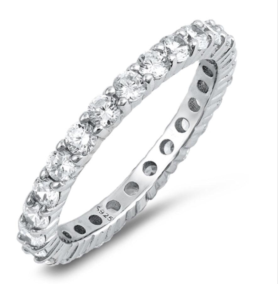 925 Sterling 2mm  Silver Eternity Band