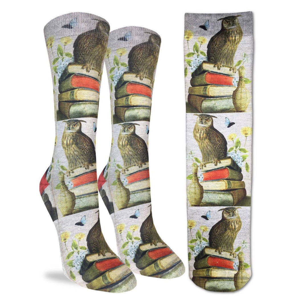 Women's Wise Book Owls Active Fun Sock