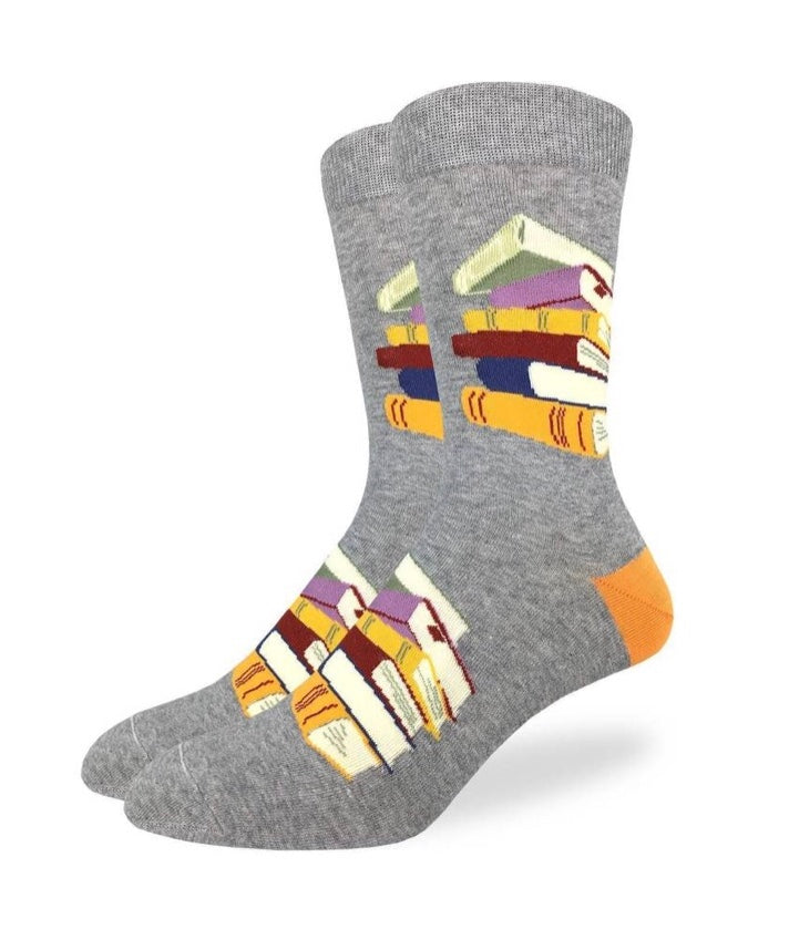 Men's Stack of Books Crew Socks