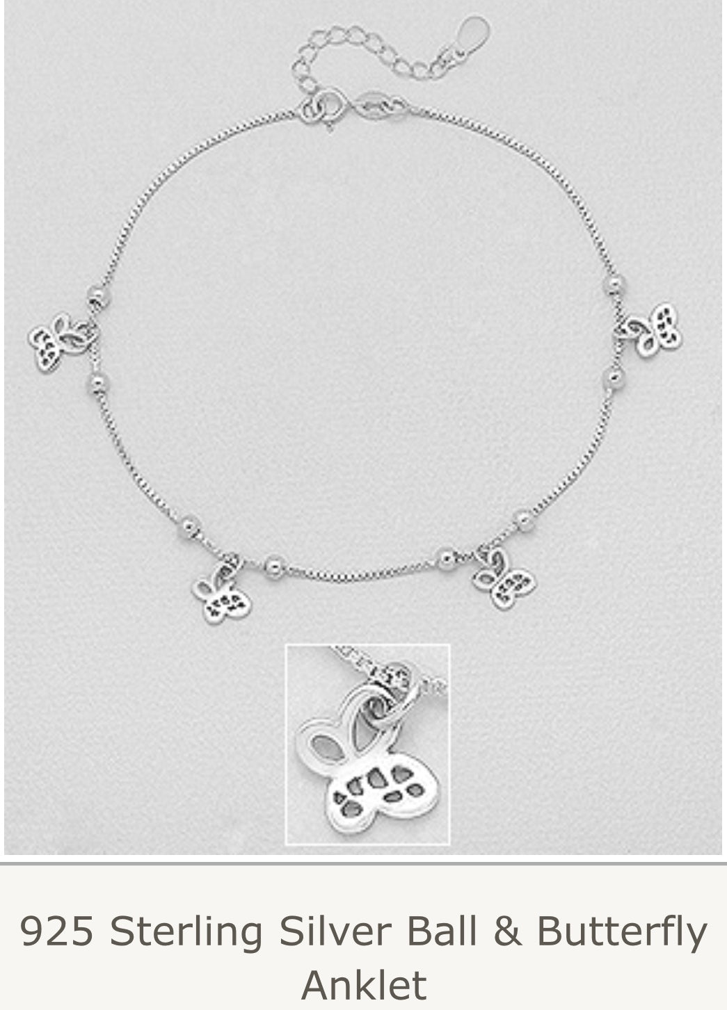 Butterfly cutout Anklet