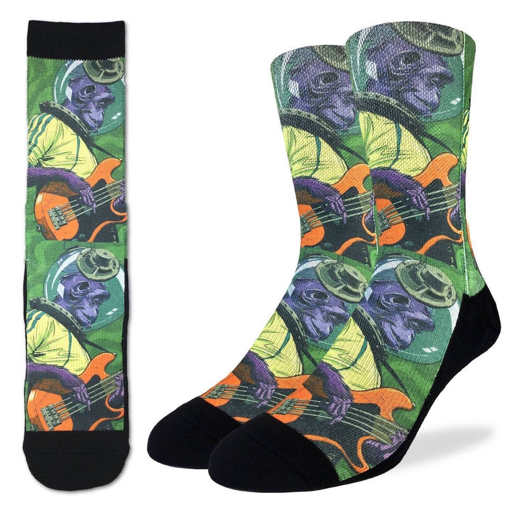 Men's Rockin Space Chimp Active Fit Socks