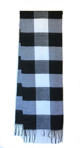 Men's large check print Scarf