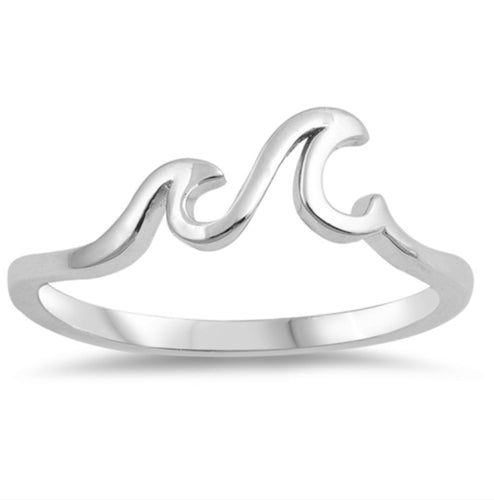 Fine Little waves Silver Ring
