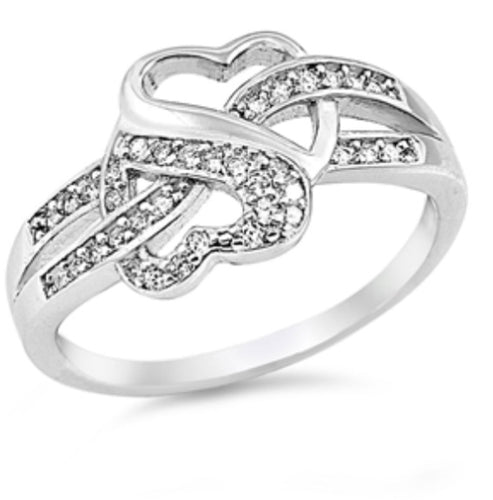 CZ Heart Infinity 925 Ring