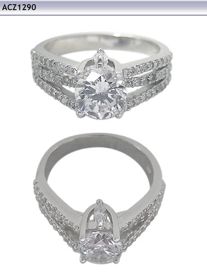 Large Round cut Cz Ring