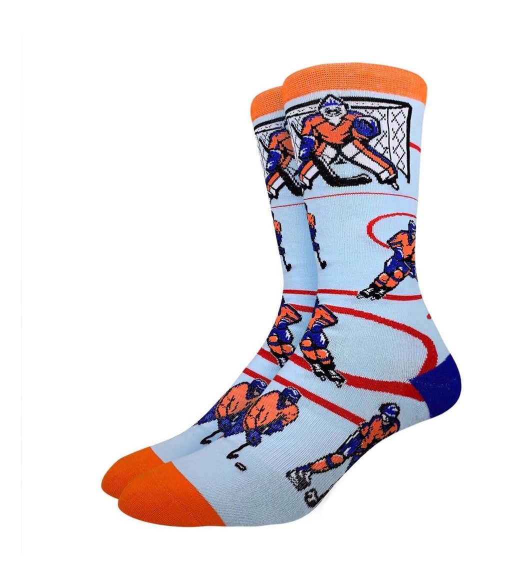 Men's Hockey Orange Blue Socks