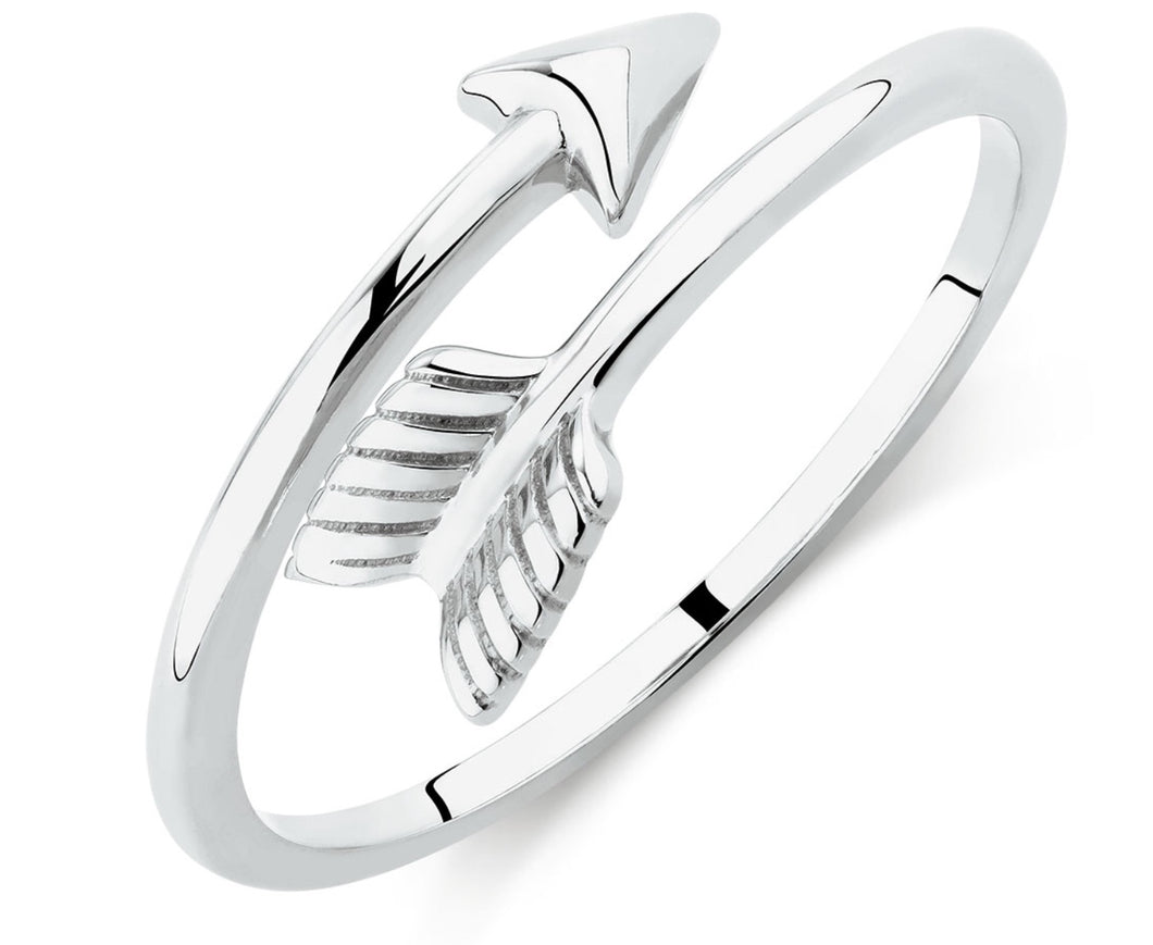 Arrow silver wrap ring