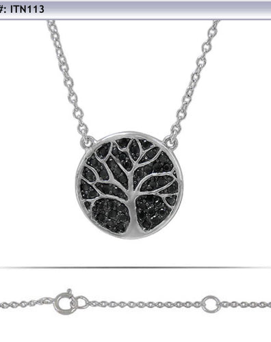 Tree of life with black CZ