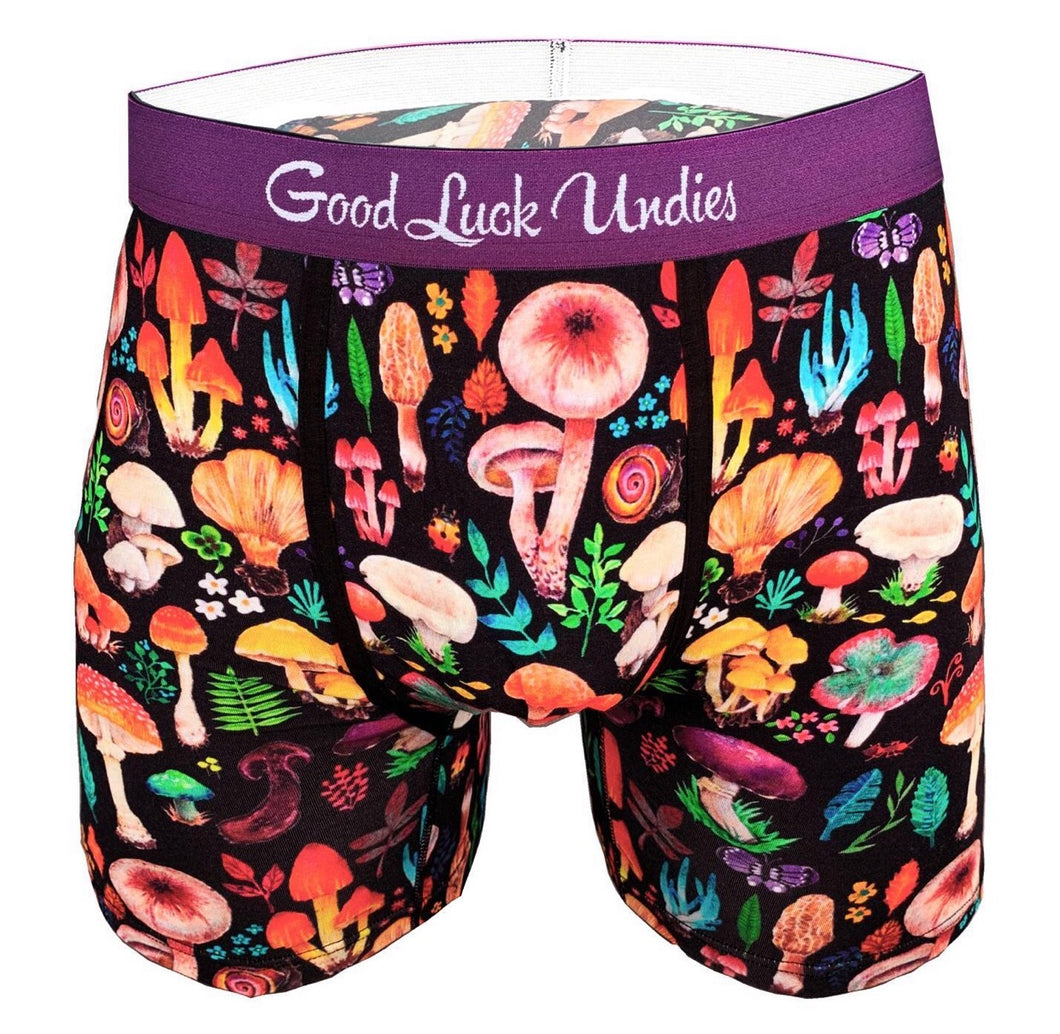 Men's Boxer Brief Mushrooms