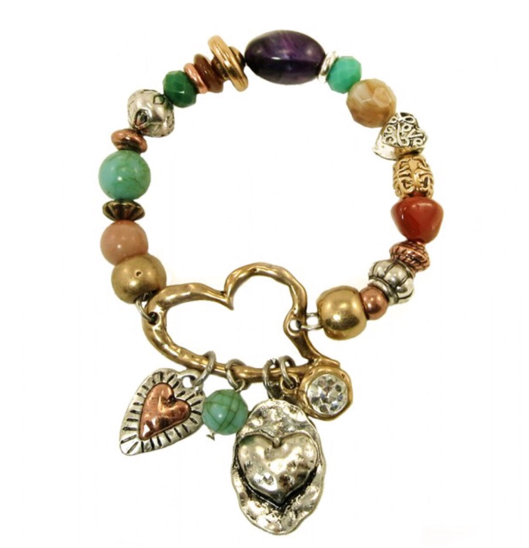 Multiple Heart Bracelet