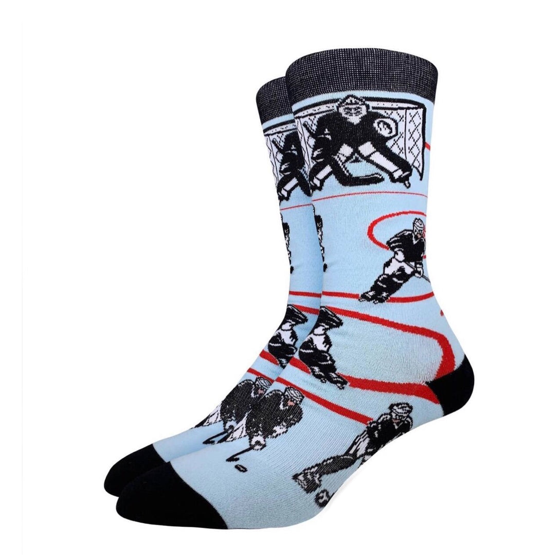 Men's Hockey Black White Socks