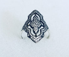 Clear Cz shield Ring