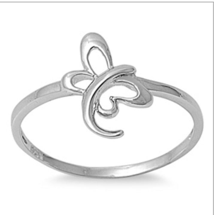 Butterfly swirl tail Ring