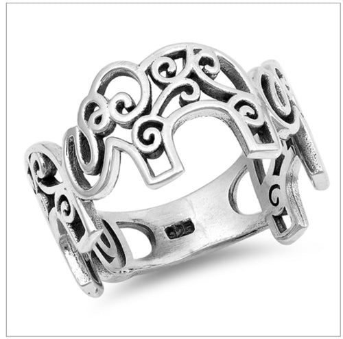 Filigree Elephant Ring