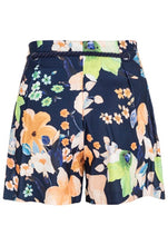 Nautical Large Floral Print Shorts
