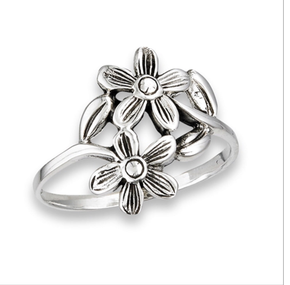 Double Daisy wrap Ring