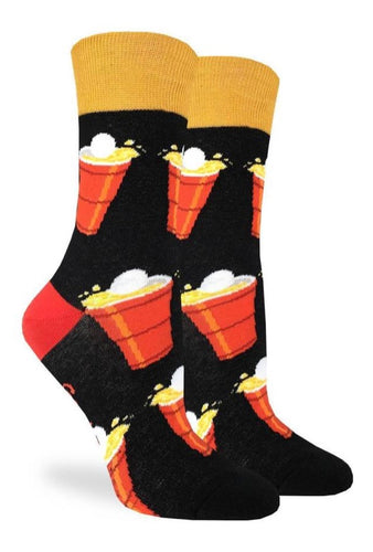 Women's Beer Pong Crew Socks