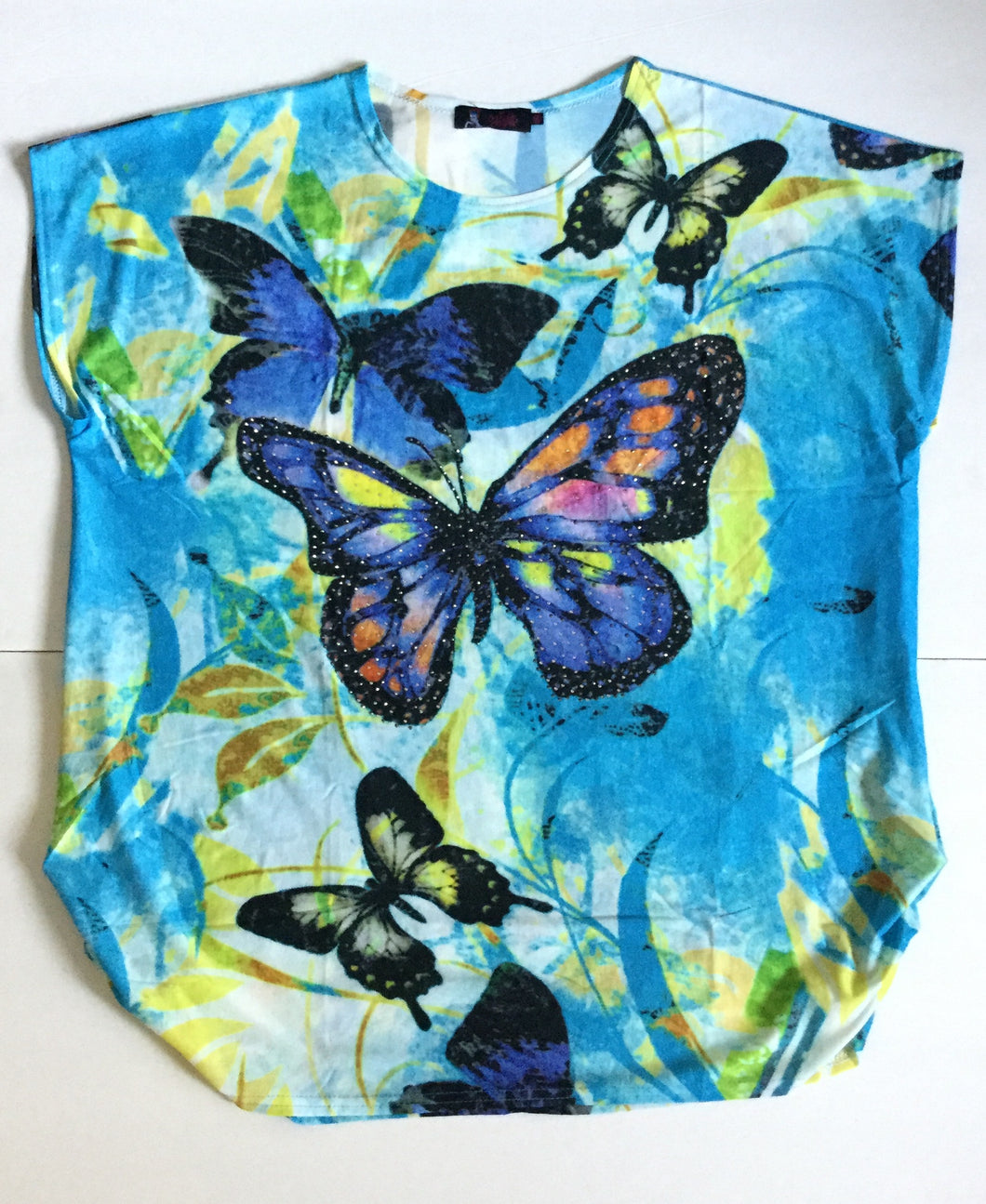 Bold Color Butterfly Fun Top