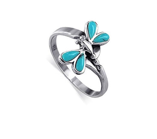 Wrap Dragonfly Turquoise ring
