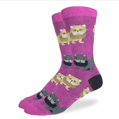 Women's Fluffy Persian Cat Crew Sock