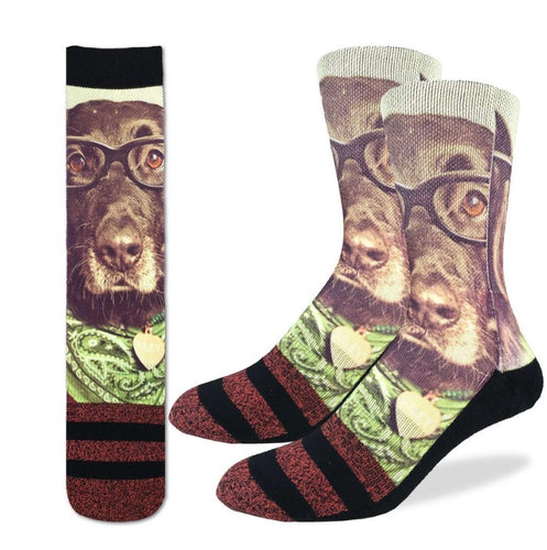 Men's Hipster Dog Active Fit Socks