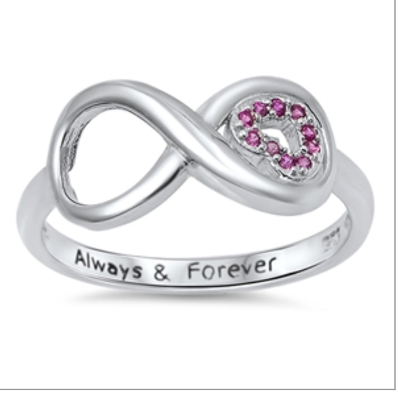 Always and Forever Infinity Ring