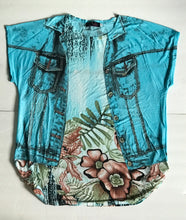 Open Jacket Floral Detail Fun Top