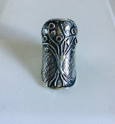 Tree of Life Israel shield Ring