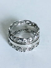 Sterling silver wide cut out Spinner Ring