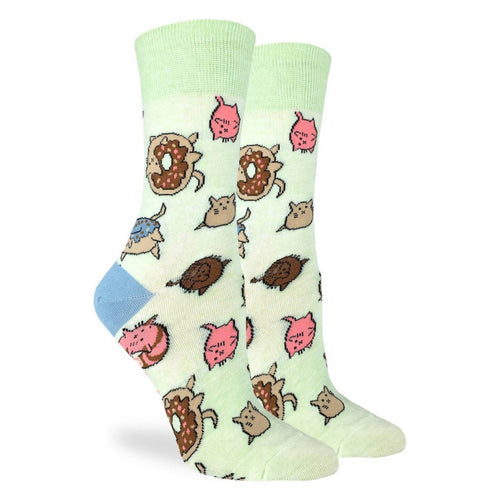 Women's Cat Donut Fun Sock