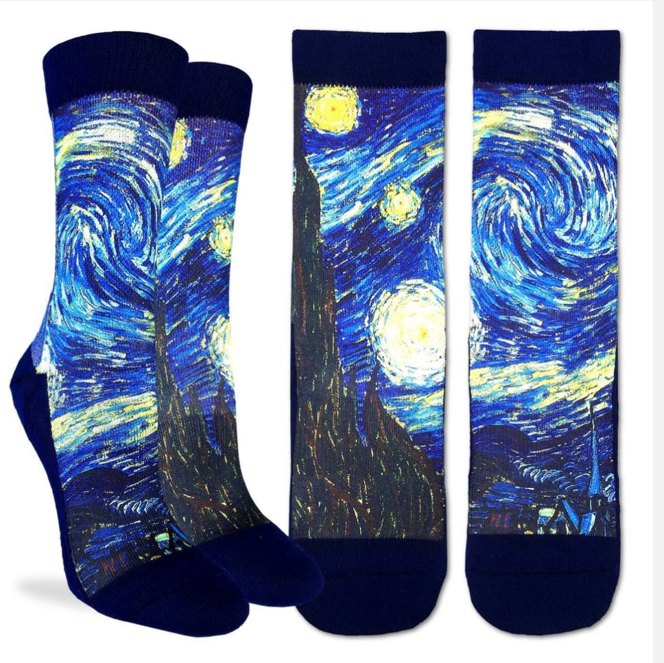 Men's Starry Night Van Gogh Active Fit Sock