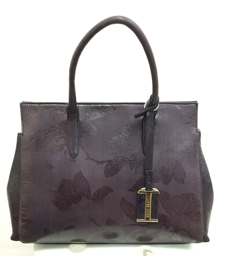 Flower embossed Handbag