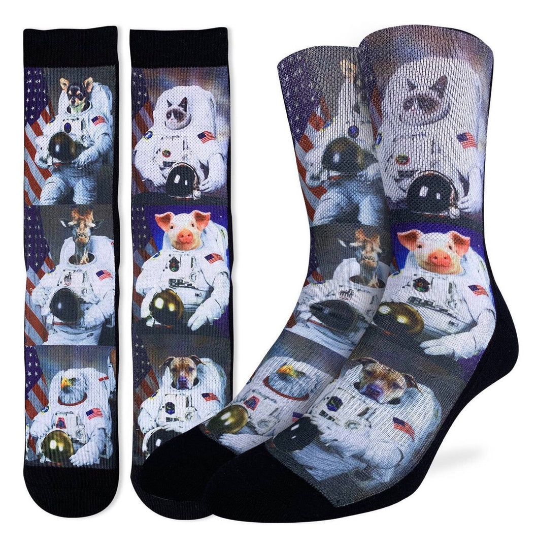 Men's Animals dressed up as Astronauts Active Fit Sock