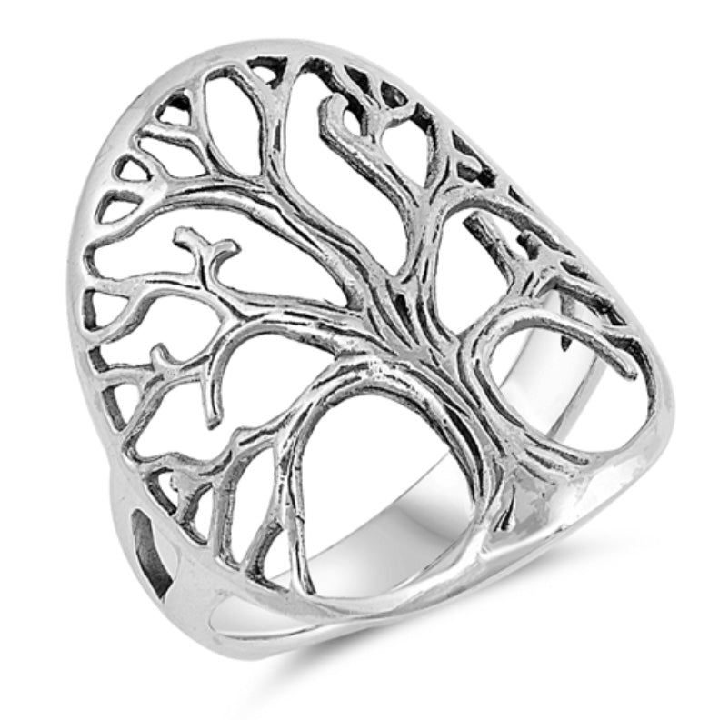 Tree of Life/Wide Branch Detail Ring