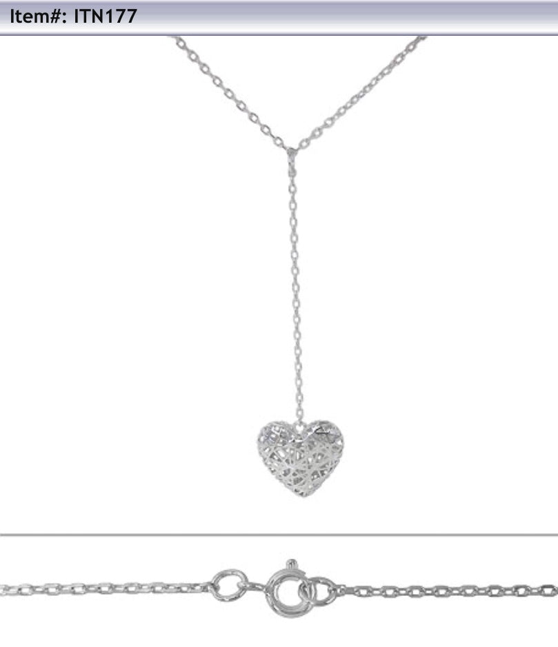 Heart/infinity drop down chain